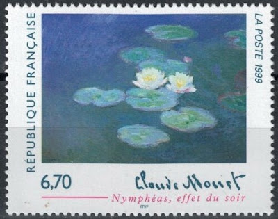 France 1999 Art, Claude Monet, Water-Lilies