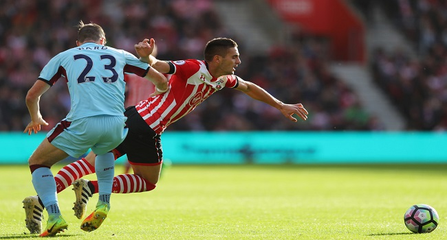 cuplikan gol southampton vs burnley 0-1