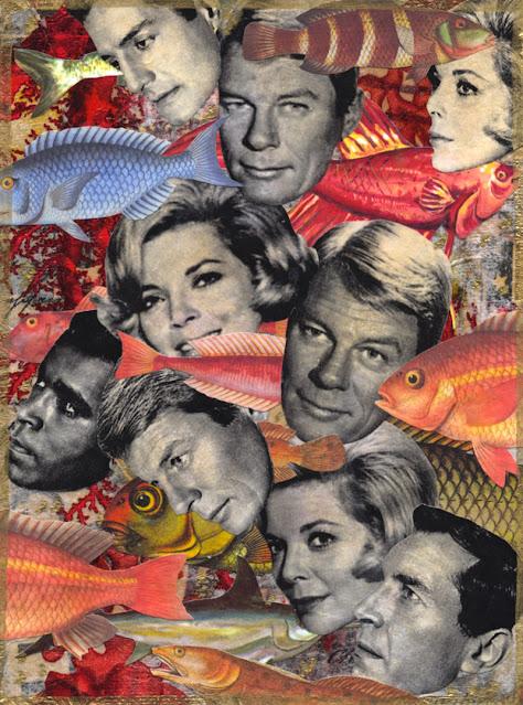 Celebrities under the sea collage