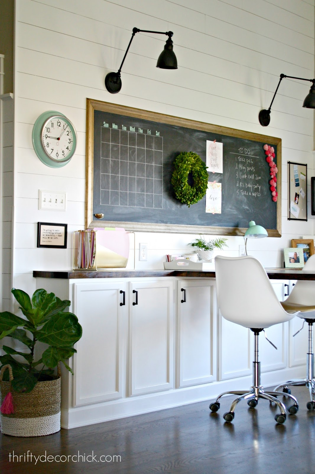 office craft room. craft room and office combo reveal l