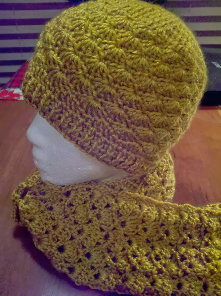 The shell stitch beanie was designed as a special request to have a warmer  hat that would compliment the Lacy Scarf. There are four sizes with the  large ... c3f7645a892