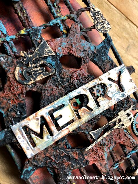 Sara Emily Barker Altered Steampunk Christmas Ornament https://sarascloset1.blogspot.com/ 4