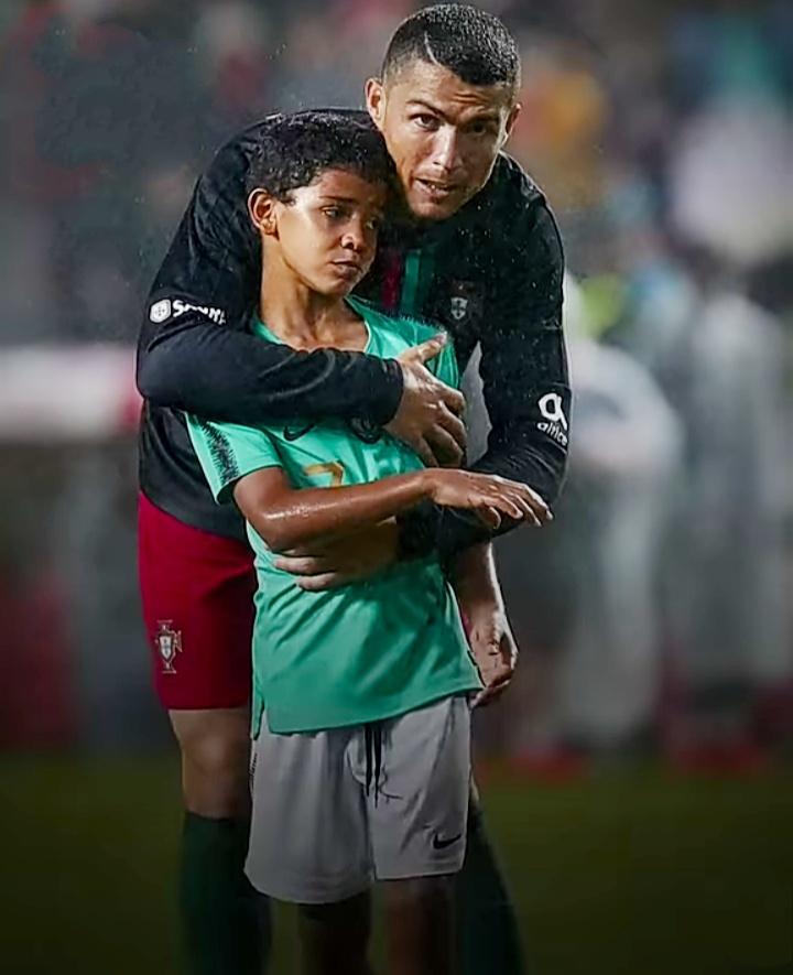 Ronaldo with Ronaldo Jr