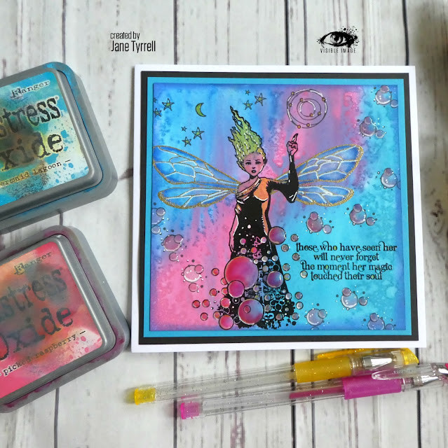 fairy stamp | oxide inks | Visible Image