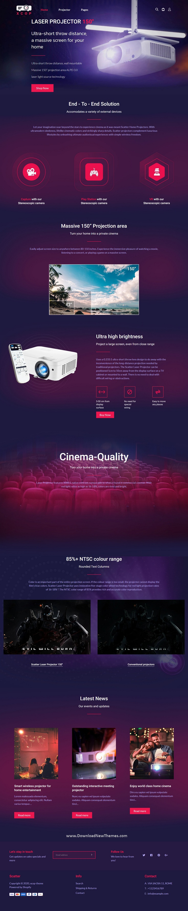 Digital TV Single Product Shopify Theme