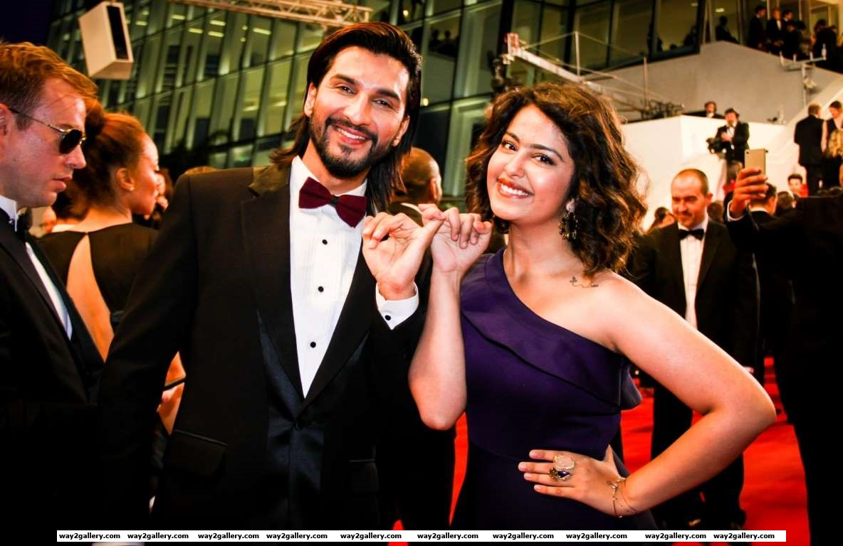 TV actors Manish Raisinghani and Avika Gor were seen at the th Cannes Film Festival in France