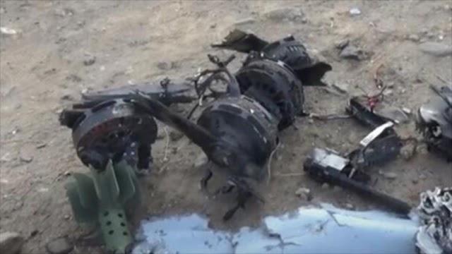 Fuerzas yemeníes destruyen un dron saudí armado con bomba
