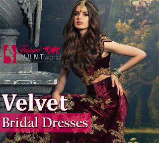 Velvet Bridal Dresses Trend 2016