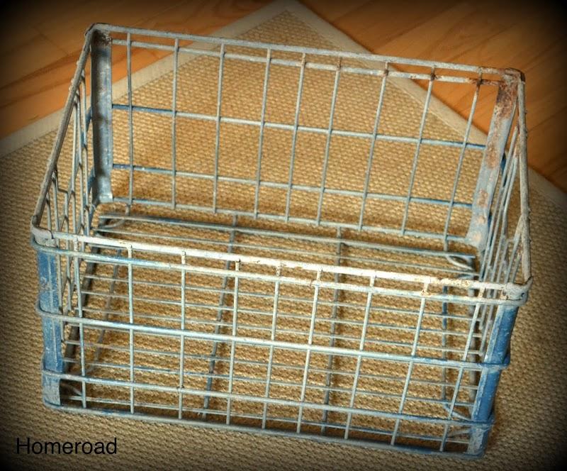 Vintage Milk Crate Stool