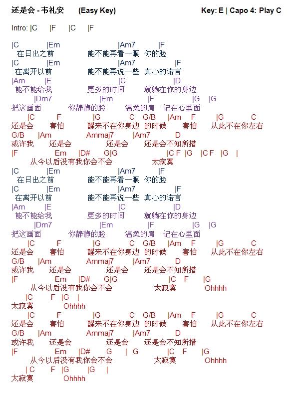 guitar+chords+Hai+Shi+Hui+-+Wei+Li+An+Easy+Keyjpg 581×794 pixels - no dues letter format