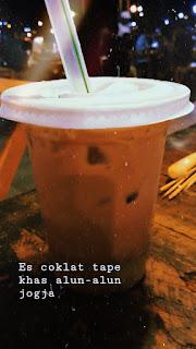 Es Coklat Tape, enak dan unik.