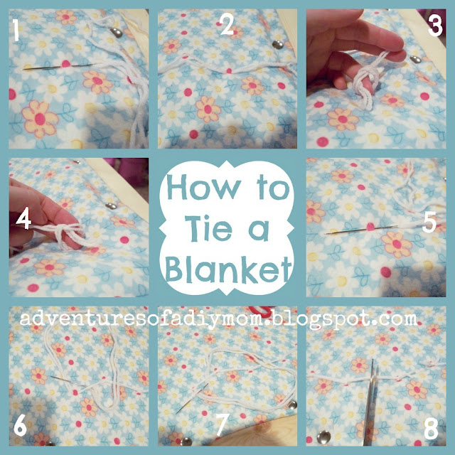 steps to tie quilting