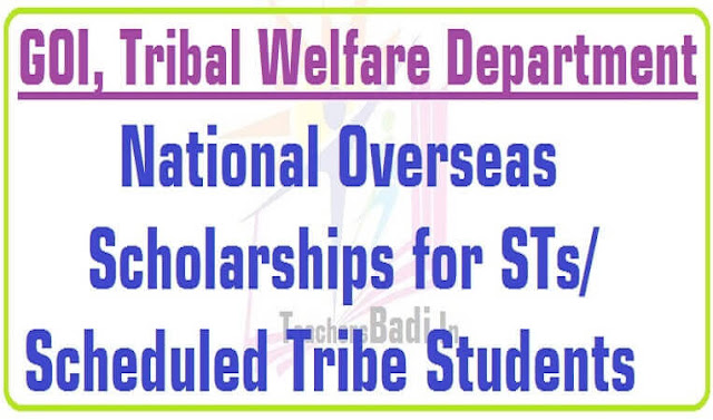 National Overseas Scholarships for ST/Scheduled Tribe Students 2016-2017