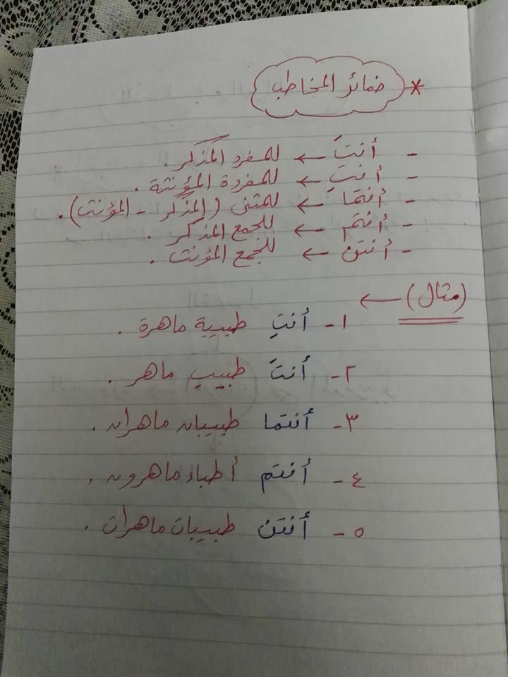 مراجعة القواعد النحوية والتراكيب للصف الثاني والثالث الابتدائي مستر إسلام سمك 7