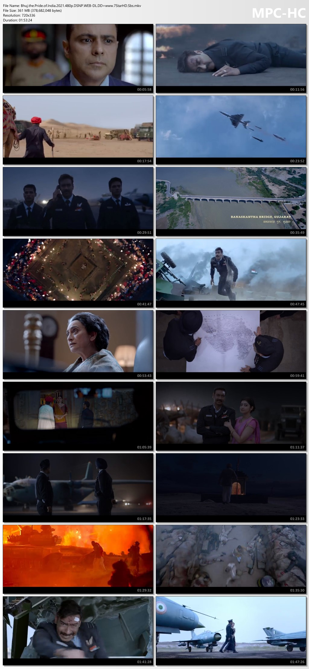 Bhuj – The Pride Of India (2021) Hindi 720p DSNP HDRip 1.1 MSubs Download