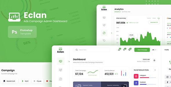 Best Ads Campaign Admin Dashboard UI Template