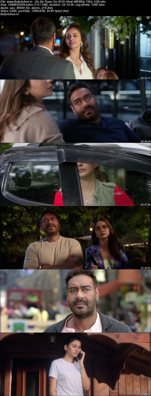 De De Pyaar De 2019 Hindi 300Mb 480p WEBRip Full Movie Download Bolly4ufree