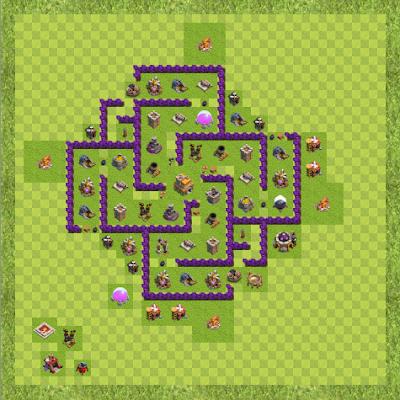 War Base Town Hall Level 7 By Muhamad Irawan (War TH 7 Layout)
