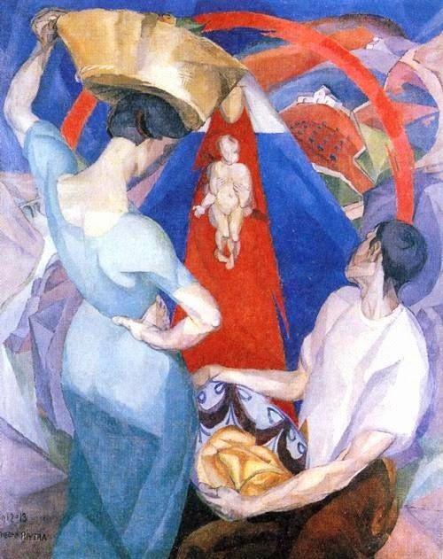 Adoração da Virgem - Diego Rivera e suas principais pinturas ~ Muralismo mexicano