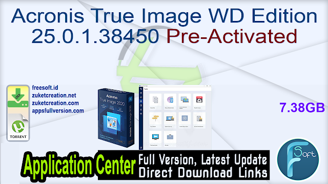Acronis True Image WD Edition 25.0.1.38450 Pre-Activated