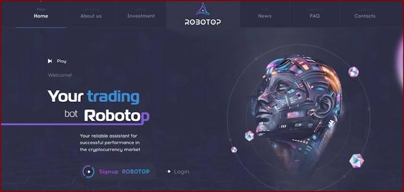 Мошеннический сайт robotop.io – Отзывы, развод, платит или лохотрон? Мошенники
