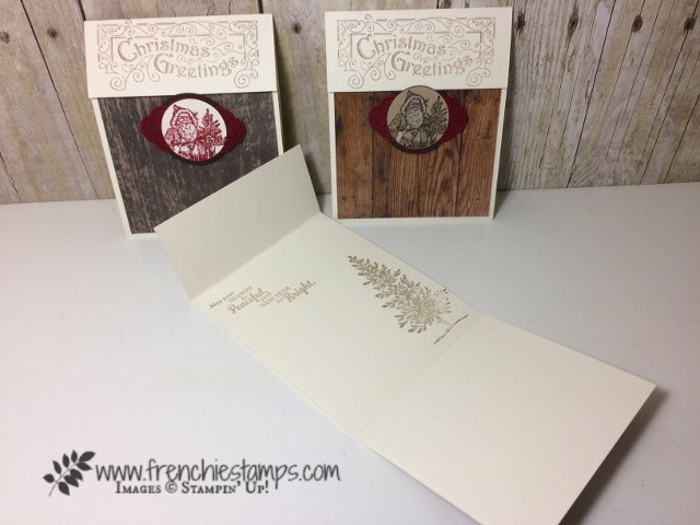 Stampin'Up! Father Christmas, Lovely as a Tree, Star of Light , Christmas in July