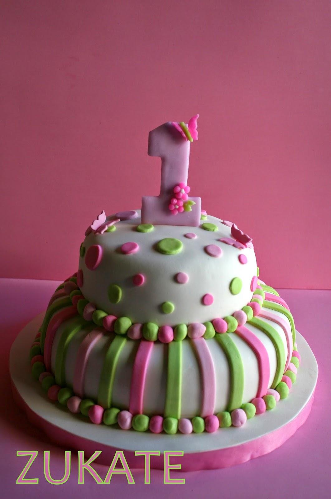 Tortas para bautismo y primer a o zukate for Tortas decoradas sencillas