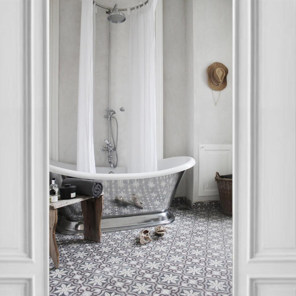 Baño de estilo vintage en la casa de Annika Von Holdt