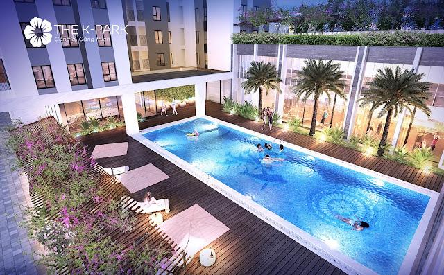 Bể bơi 4 mùa tại K Park Hà Đông