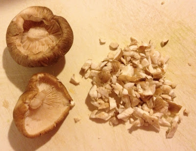 shiitake mushrooms whole and chopped