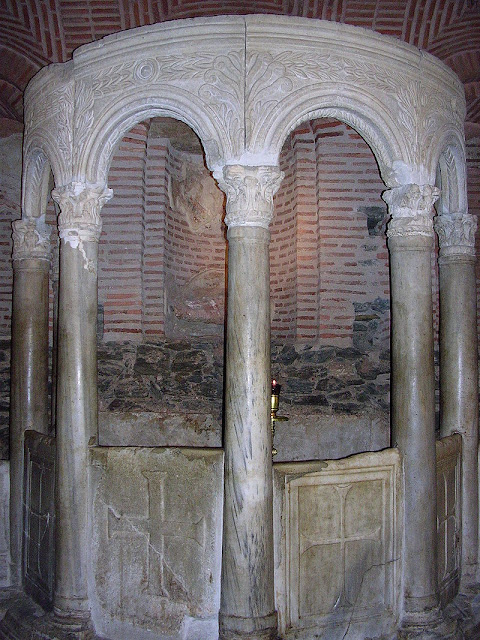 The fountain, in the crypt of Saint Demetrius Church, Thessaloniki.