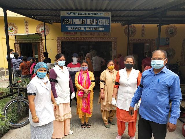 स्वास्थ्य कर्मचारी संघ हरियाणा के आह्वान पर स्वास्थ्य विभाग के कर्मचारियों ने काले रिबन बान्धकर जताया विरोध