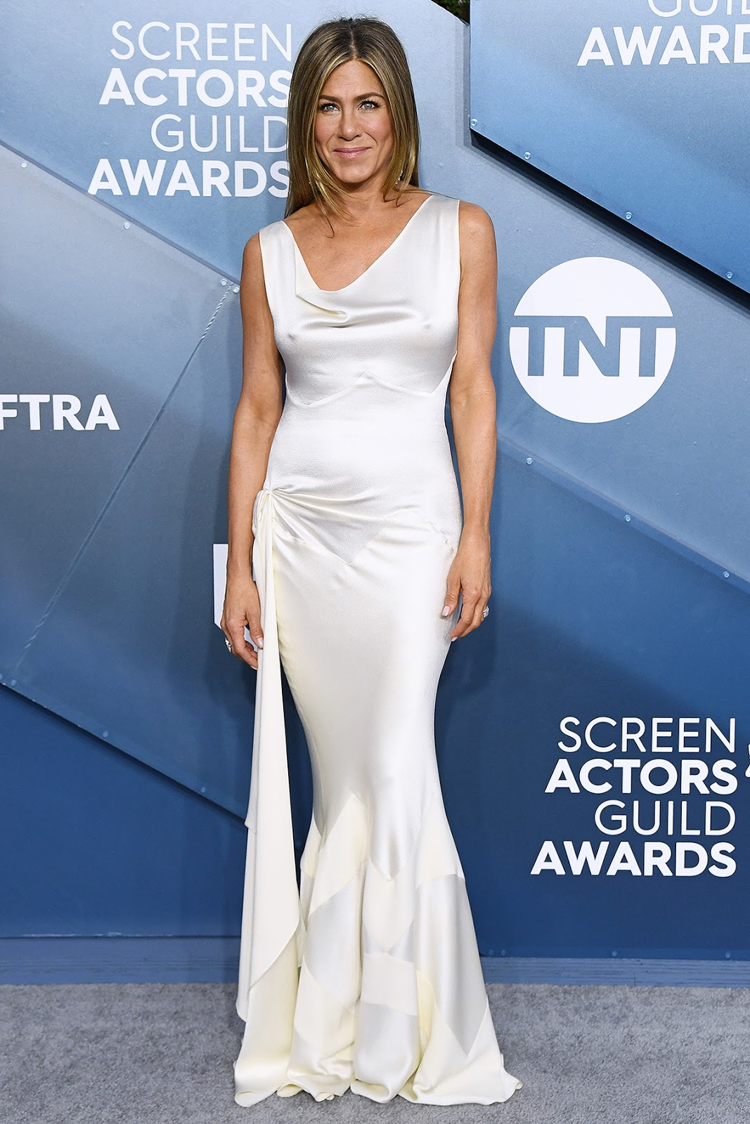 Jennifer Aniston drips glamour in slinky satin gown at the 2020 SAG Awards in LA