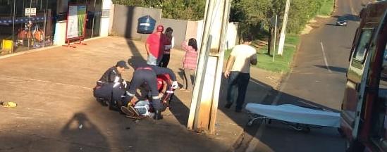 Jovem de Nova Cantu sofre acidente de motocicleta em Roncador
