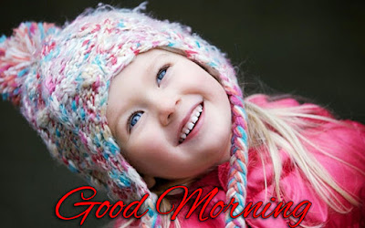 good morning with cute girl