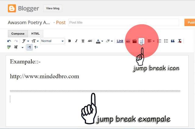 Jump break in blog