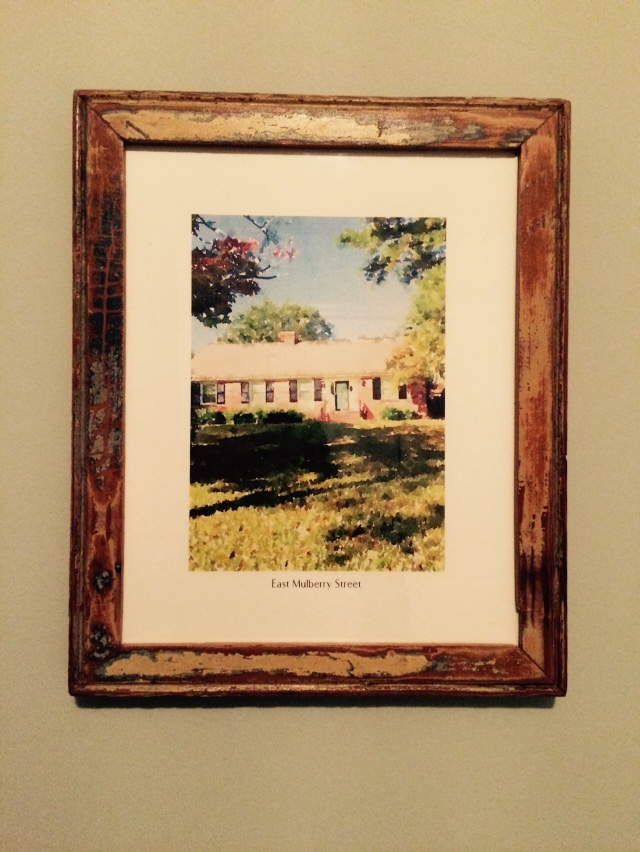 Housewarming idea, framed print of the house | The Lowcountry Lady