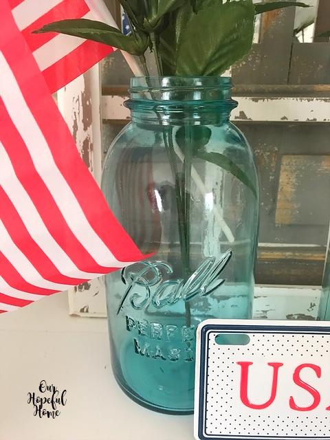 large blue vintage Ball perfect Mason jar