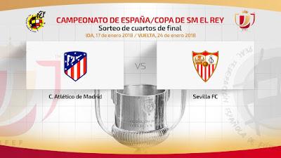 Atleti Sevilla cuartos Copa