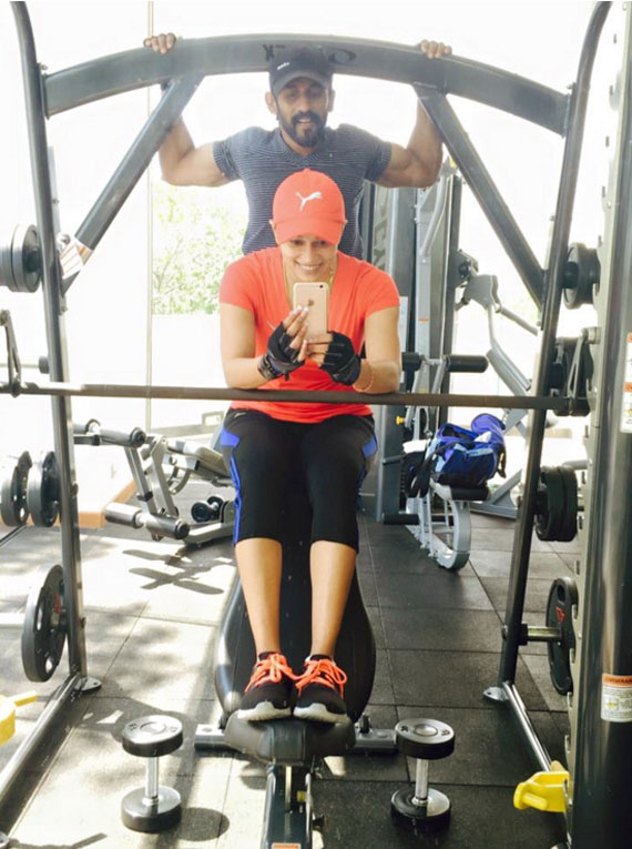 Janaki Wijerathne Gym Workout - (Watch Video)