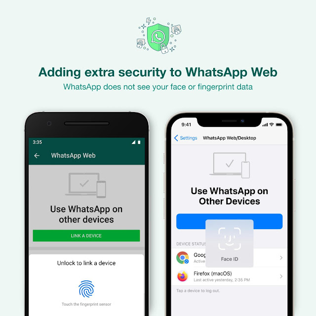 WhatsApp Introduces New Face and Fingerprint unlock for Whatsapp Web and Desktop