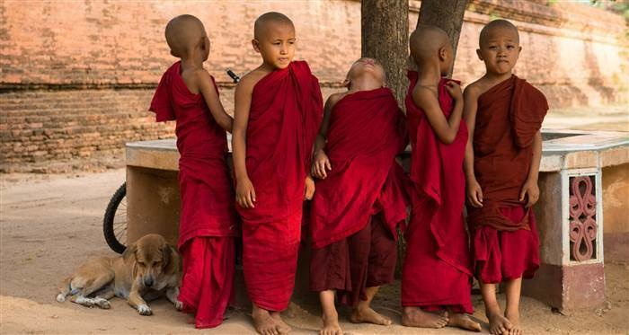 Bagan, Myanmar: These kids were being photographed by another tourist when I stopped on my bike. They were taking a break while the traveler was speaking to their caretaker. I took this photo during their break. - This Guy's Amazing Photo Album Will Fuel Your Wanderlust… By 0:24 I Wanted To Pack My Bags.
