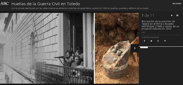 HUELLAS DE LA GUERRA CIVIL DE TOLEDO