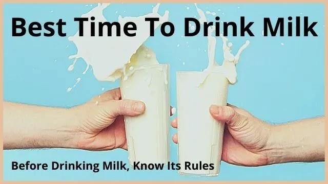 Best-Time-To-Drink-Milk