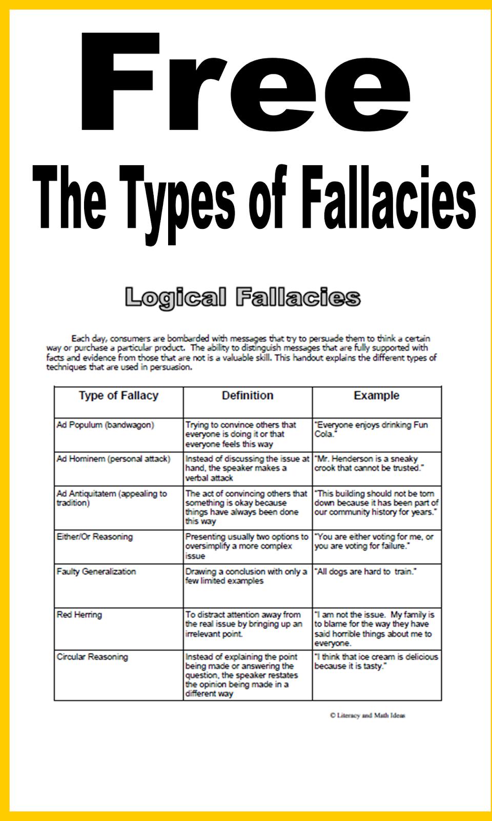 THE LOGICAL FALLACIES