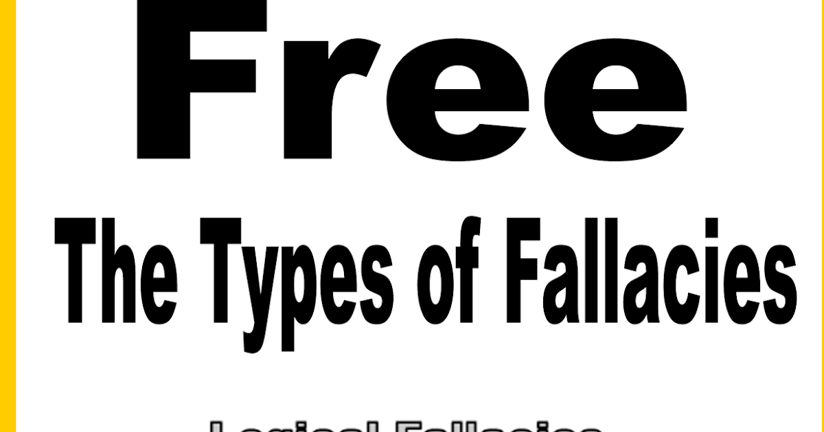 Literacy & Math Ideas: (Freebie) The Types of Fallacies in