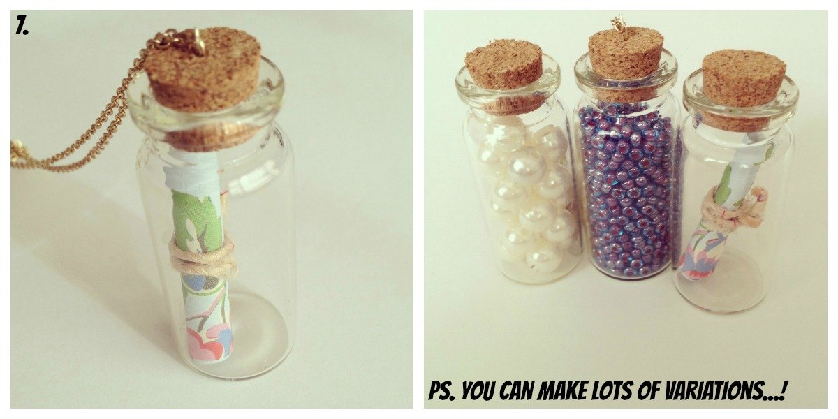 DIY message in a bottle pendant!  a5ed7f554b09