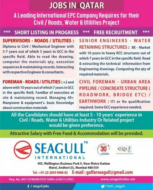 Galfar gulf jobs in Qatar HR advertisement