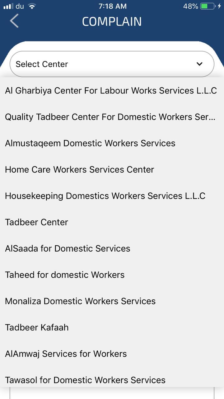 List of Tadbeer centers in uae