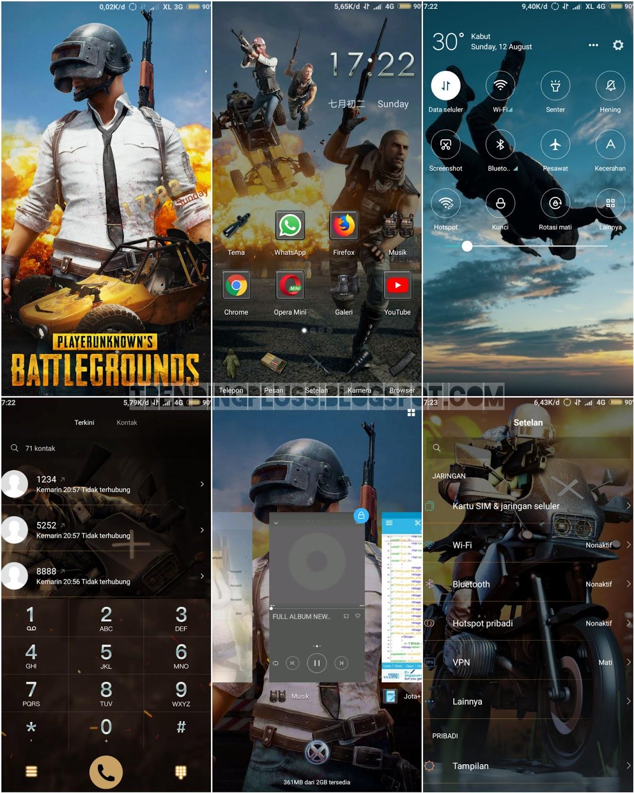10 Tema Pubg Mtz Untuk Xiaomi Miui Terbaru Botaveti